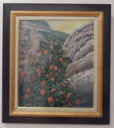 山茶花と吉野山