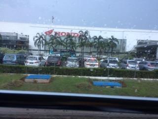 ジャカルタ近郊のホンダの工場