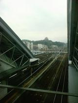 小田原駅から望む小田原城