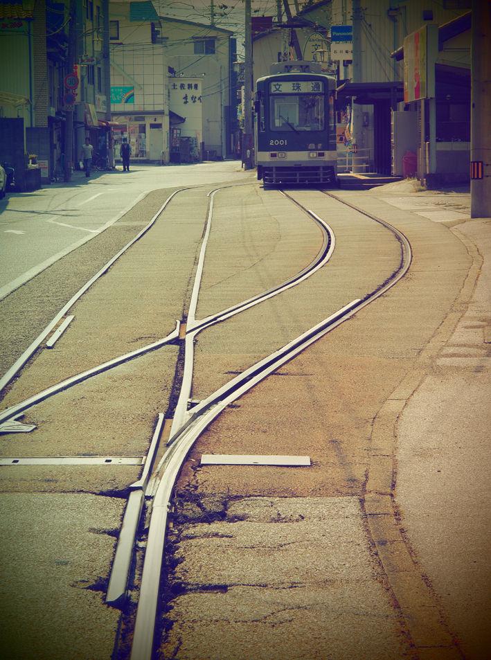 路面電車の走る街♪