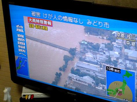 台風直撃、無惨にずぶ濡れのビンテージロードレーサー(悲)