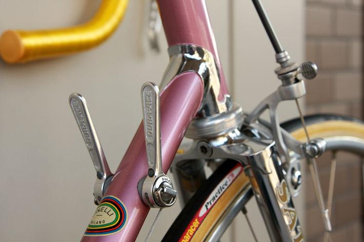 現代のサイクリング車には無い部品=Wレバー