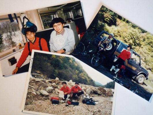 30年前と変わらない自転車スタイルと輪友=親友♪。