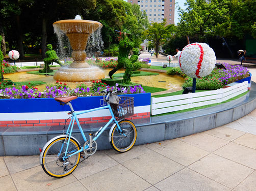 この夏最後の営業サイクリング ガム踏んだ……