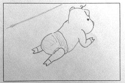 寝相アート1