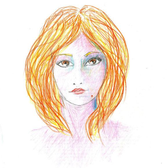 LSDを使用した後に描いた自画像2