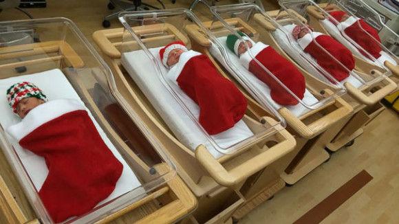 海外病院のクリスマスデコレーション1