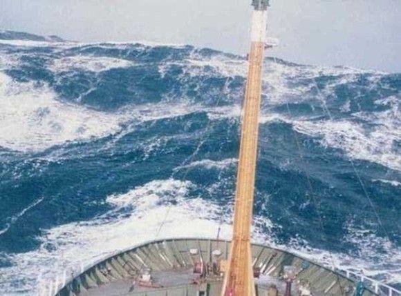 嵐の船で撮影4
