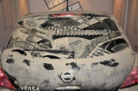 汚れた車に書いてみた11