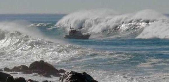 嵐の船で撮影11