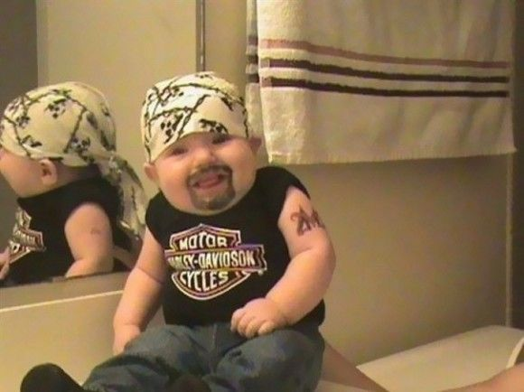笑える赤ちゃん11