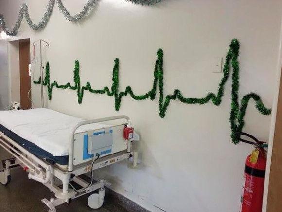 海外病院のクリスマスデコレーション2
