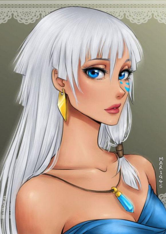 アニメキャラクターのようなディズニーヒロイン7