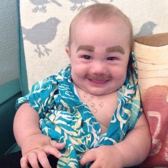 笑える赤ちゃん14