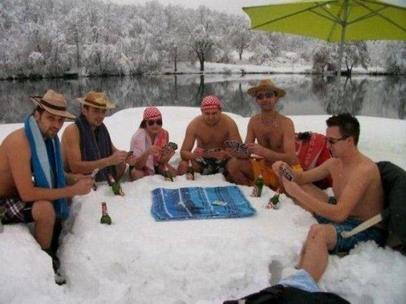 冬を満喫する人24