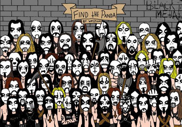 メタルバンドの中からパンダを見つけろ