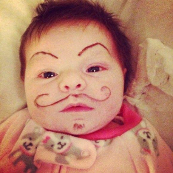 笑える赤ちゃん17