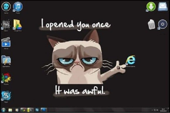 Internet-Explorerの扱いが酷いw1