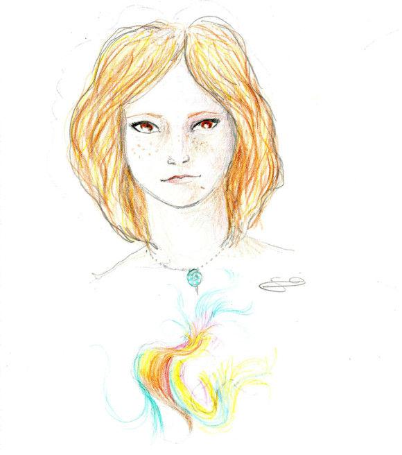 LSDを使用した後に描いた自画像1