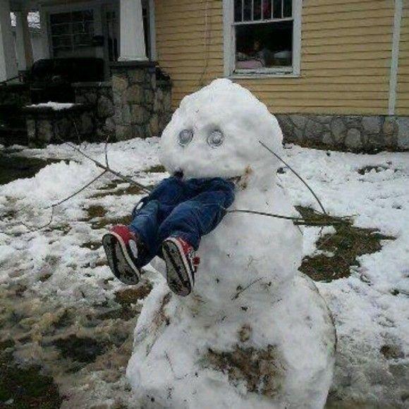 恐ろしすぎる雪だるま1