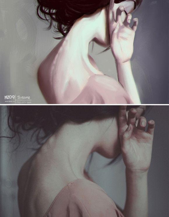 写真に基づきデジタルアート9