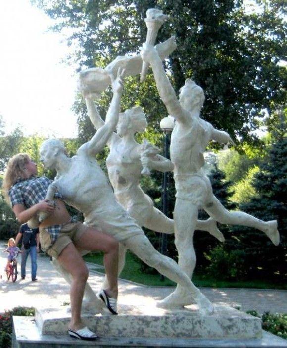 像と遊ぶ人々34