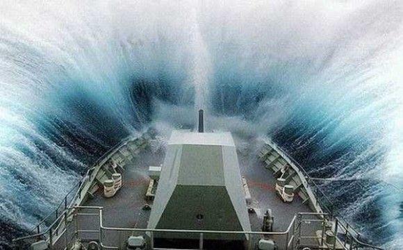 嵐の船で撮影3