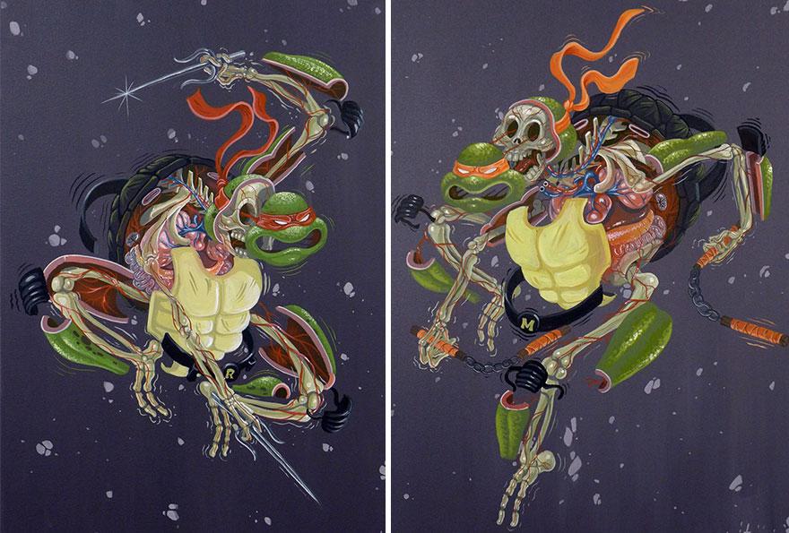 キャラクターが解剖されるイラスト6