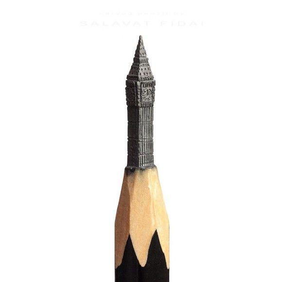 鉛筆の先を削ったアートが凄い14