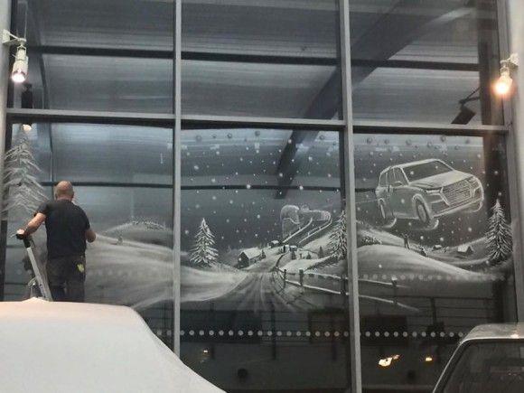 スプレーで描かれた窓アート12