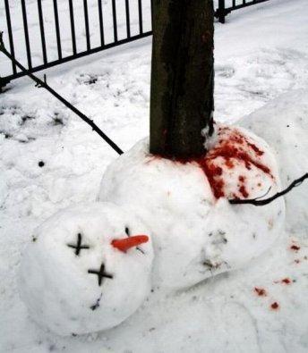 恐ろしすぎる雪だるま15