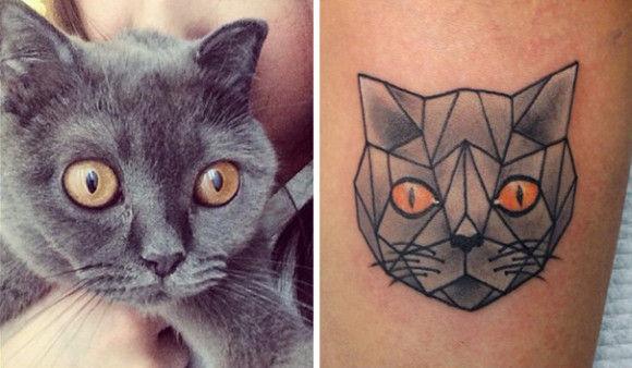 ネコの刺青が大人気14