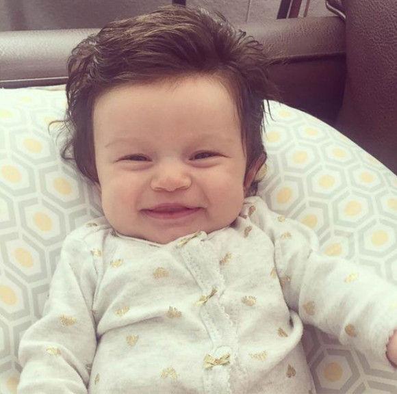 フサフサで生まれた赤ちゃん2