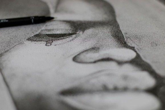 点だけで描いたイラスト3