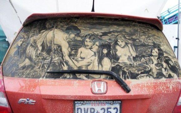 汚れた車に書いてみた13