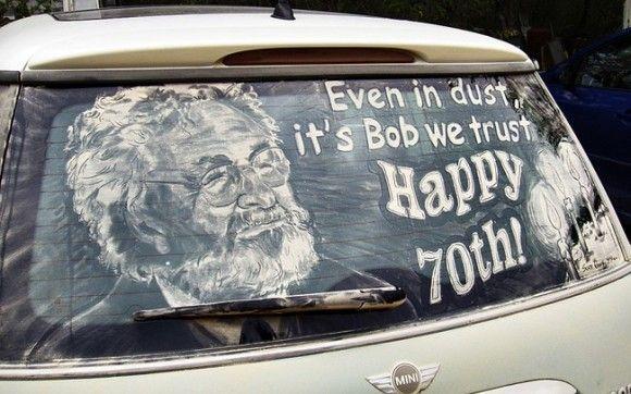 汚れた車に書いてみた15