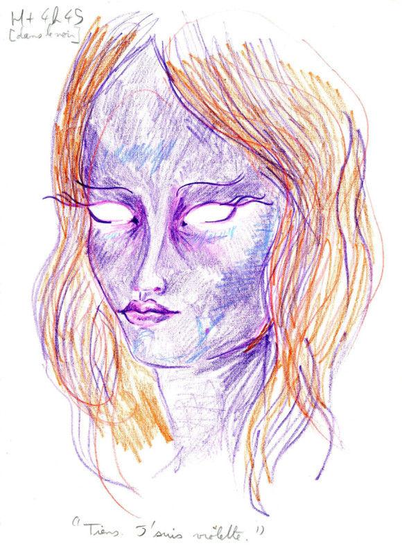 LSDを使用した後に描いた自画像6