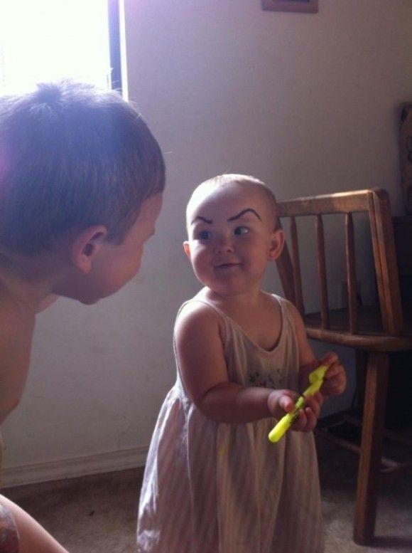 笑える赤ちゃん6