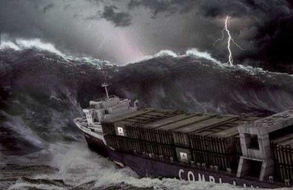 嵐の船で撮影10