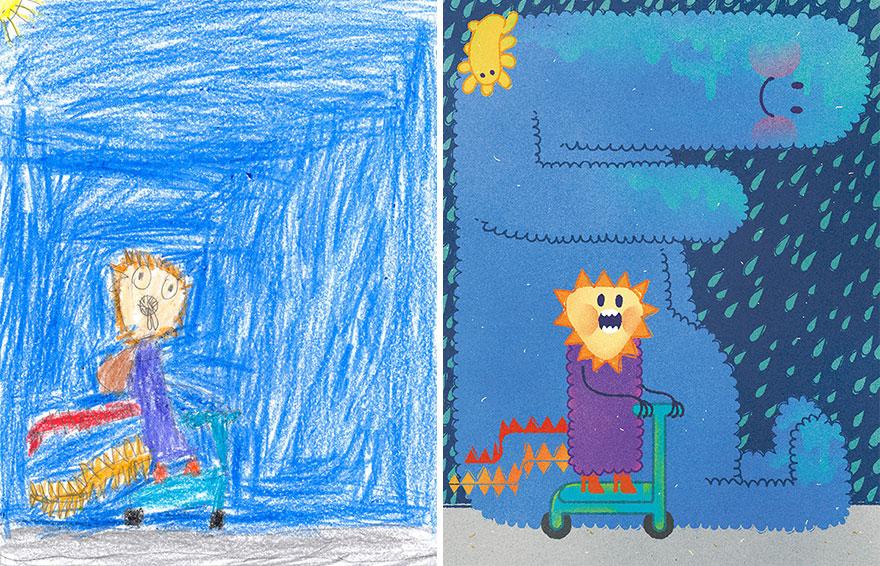 子供の絵をリアル化6