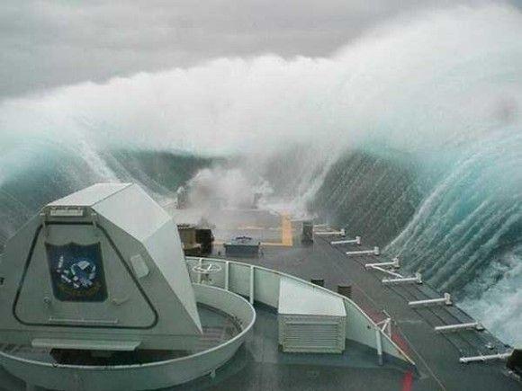 嵐の船で撮影6