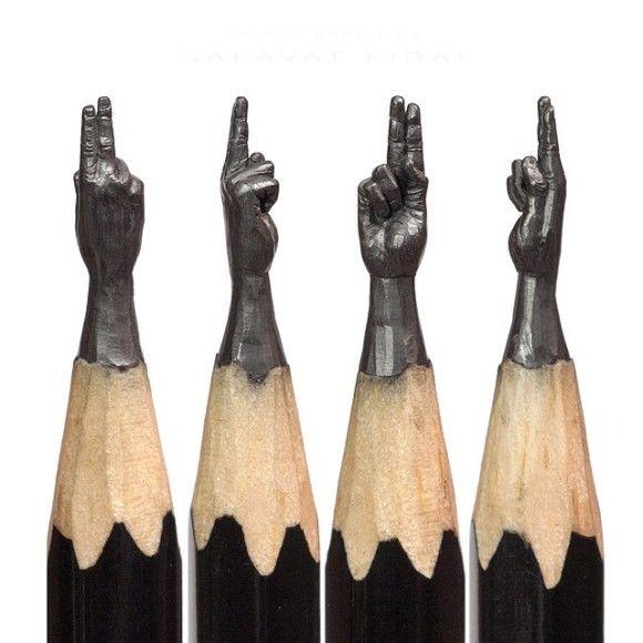 鉛筆の先を削ったアートが凄い13