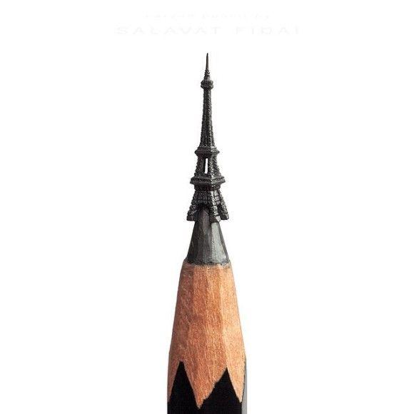 鉛筆の先を削ったアートが凄い1