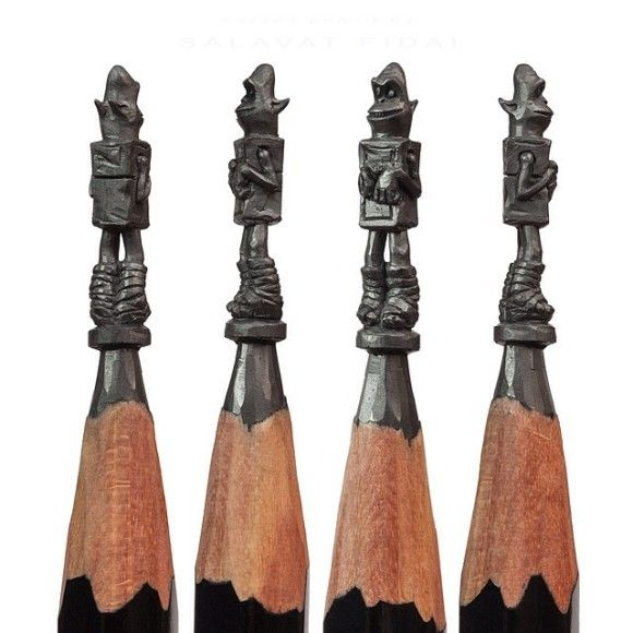 鉛筆の先を削ったアートが凄い6