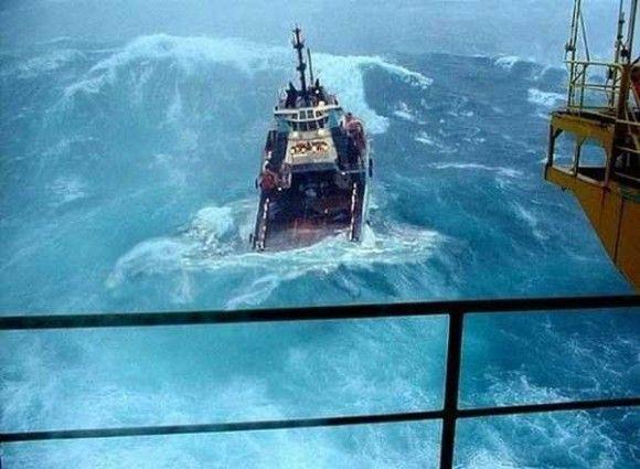 嵐の船で撮影7