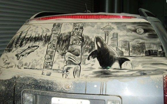 汚れた車に書いてみた9