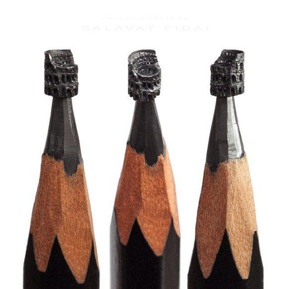 鉛筆の先を削ったアートが凄い11