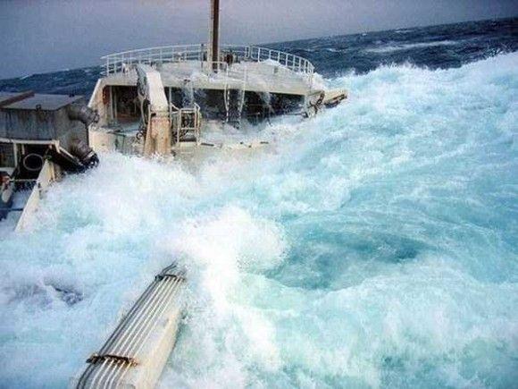 嵐の船で撮影5