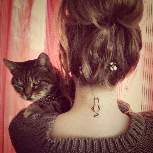 ネコの刺青が大人気7