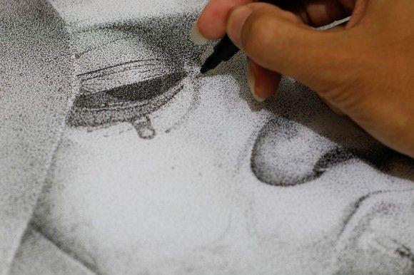 点だけで描いたイラスト1